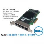 Dell Server Adapter Intel Ethernet I350 QP LP (540-11333 540-BBDV DNFCD 0T34F4)